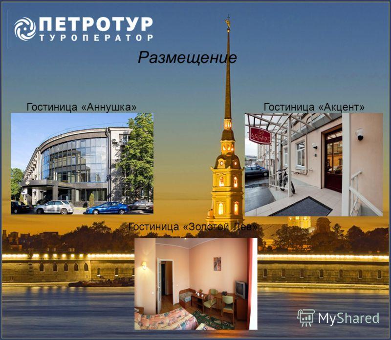 Размещение Гостиница «Аннушка»Гостиница «Акцент» Гостиница «Золотой Лев»
