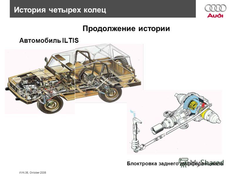 I/VK-35, Oktober 2005 История четырех колец Автомобиль ILTIS Продолжение истории Блоктровка заднего дифференциала