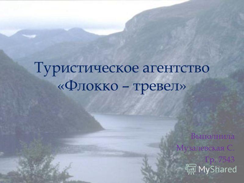 Туристическое агентство «Флокко – тревел» Выполнила Музалевская С. Гр. 7543