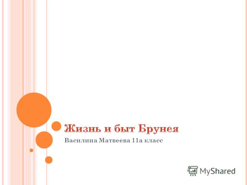 Василина Матвеева 11а класс