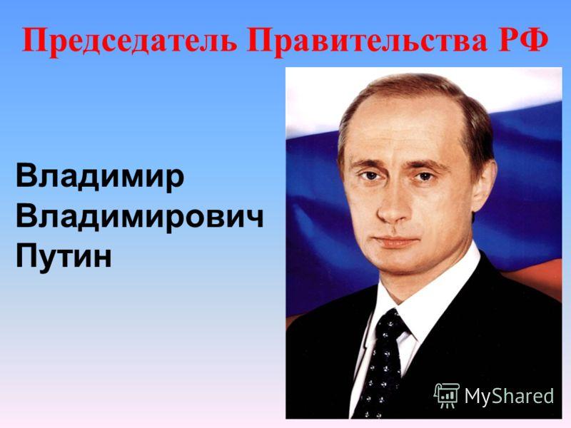 Председатель Правительства РФ Владимир Владимирович Путин