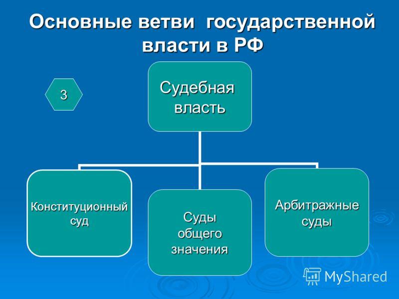 Основные ветви государственной власти в РФ 3