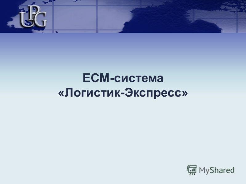 ЕСМ-система «Логистик-Экспресс»