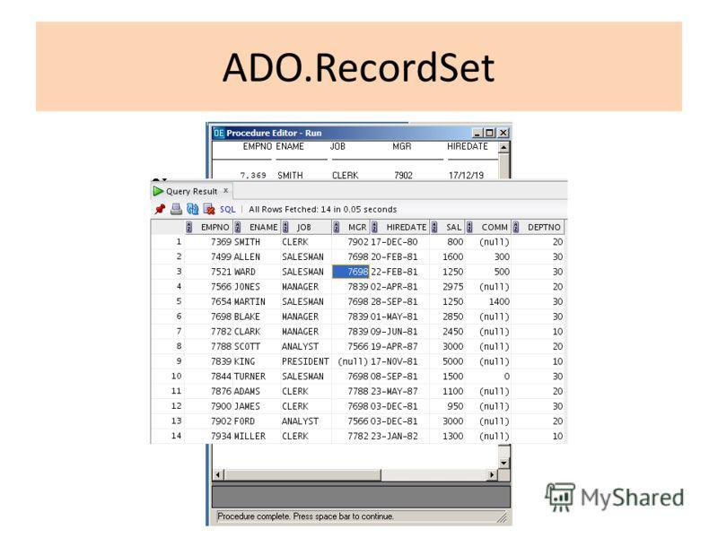 ADO.RecordSet