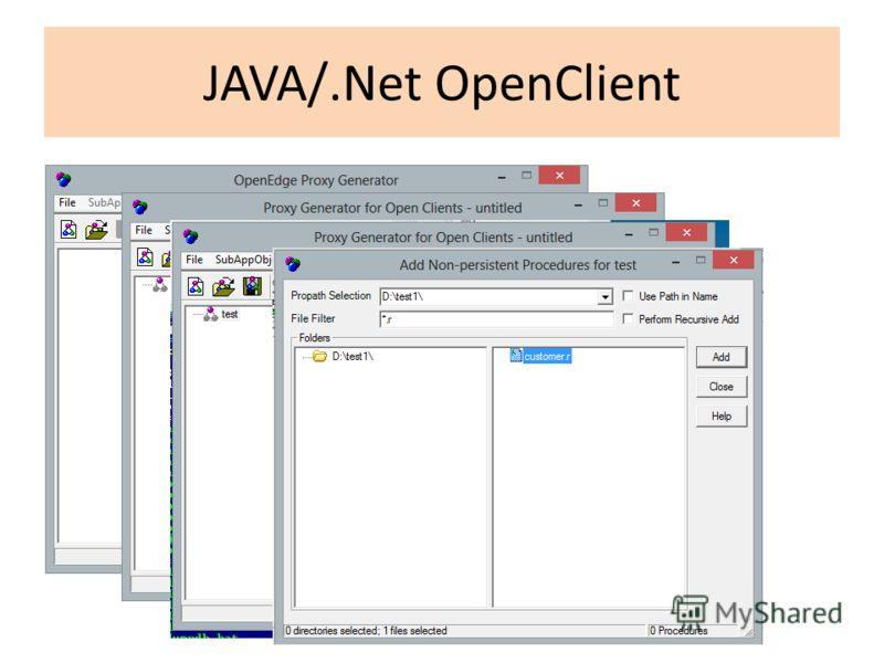 JAVA/.Net OpenClient
