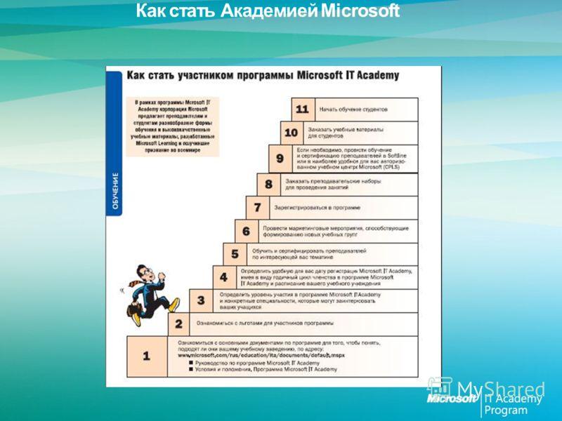 Как стать Академией Microsoft