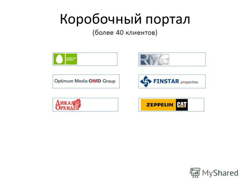 Коробочный портал (более 40 клиентов)
