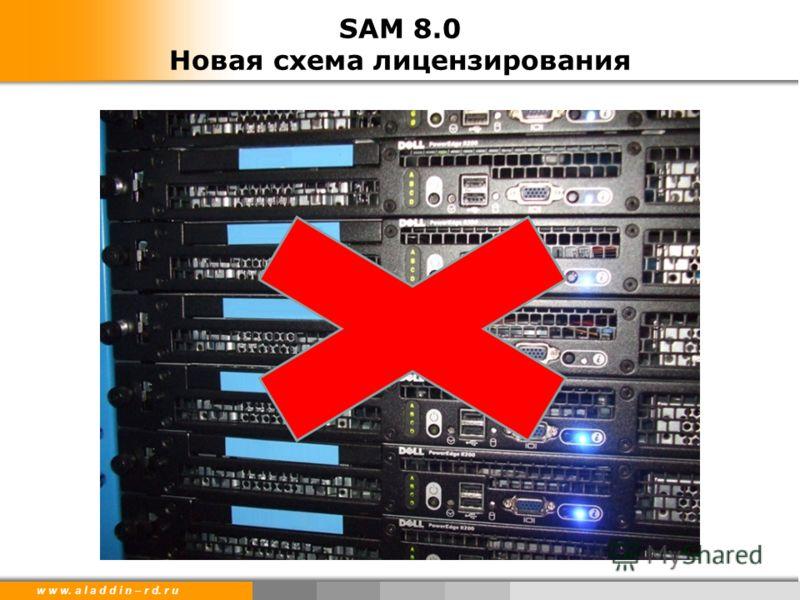 w w w. a l a d d i n – r d. r u SAM 8.0 Новая схема лицензирования