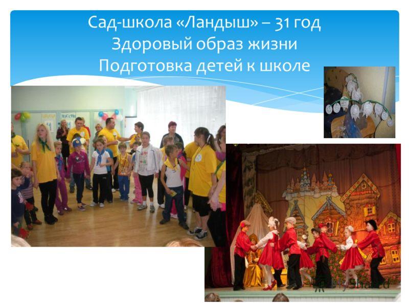 Сад-школа «Ландыш» – 31 год Здоровый образ жизни Подготовка детей к школе