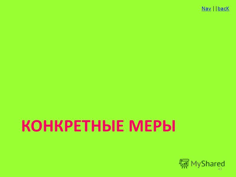NavNav ||bacKbacK КОНКРЕТНЫЕ МЕРЫ 43