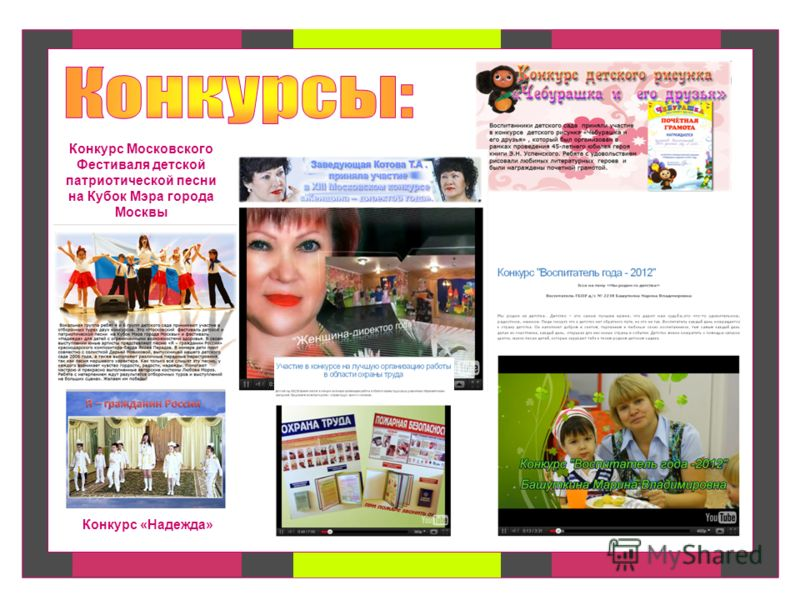 Конкурс Московского Фестиваля детской патриотической песни на Кубок Мэра города Москвы Конкурс «Надежда»