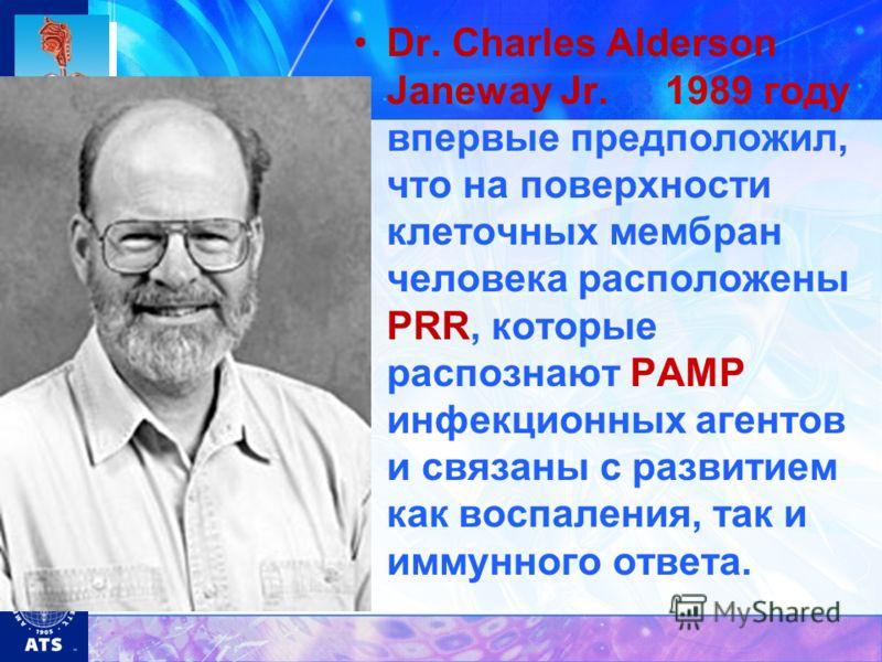 Dr. Charles Alderson Janeway Jr. в 1989 году впервые предположил, что на поверхности клеточных мембран человека расположены PRR, которые распознают РАМР инфекционных агентов и связаны с развитием как воспаления, так и иммунного ответа.