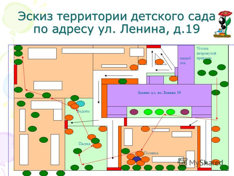 Эскиз территории детского сада по адресу ул. Ленина, д.19