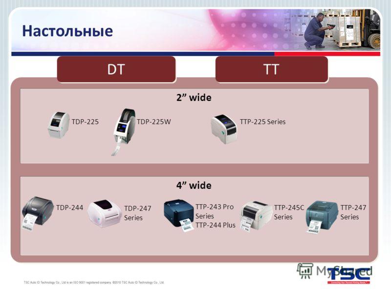 Настольные 2 wide 4 wide DT TDP-225 TDP-225W TDP-244 TDP-247 Series TTP-225 Series TTP-247 Series TTP-245C Series TTP-243 Pro Series TTP-244 Plus ТТ