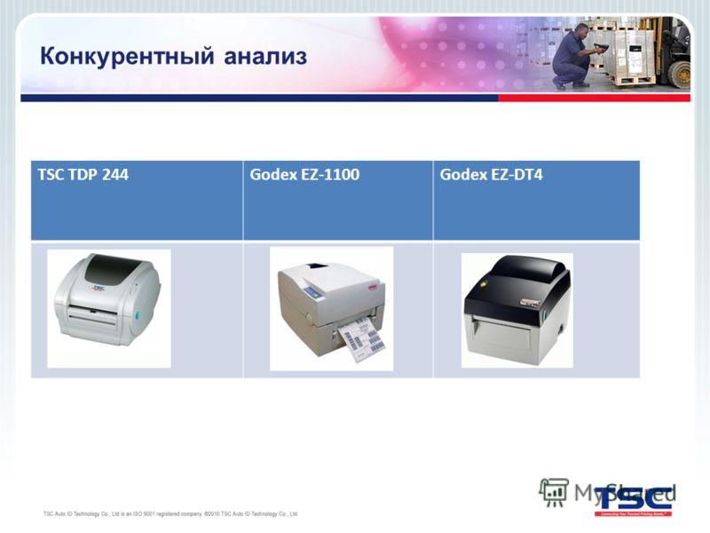 Конкурентный анализ TSC TDP 244Godex EZ-1100Godex EZ-DT4