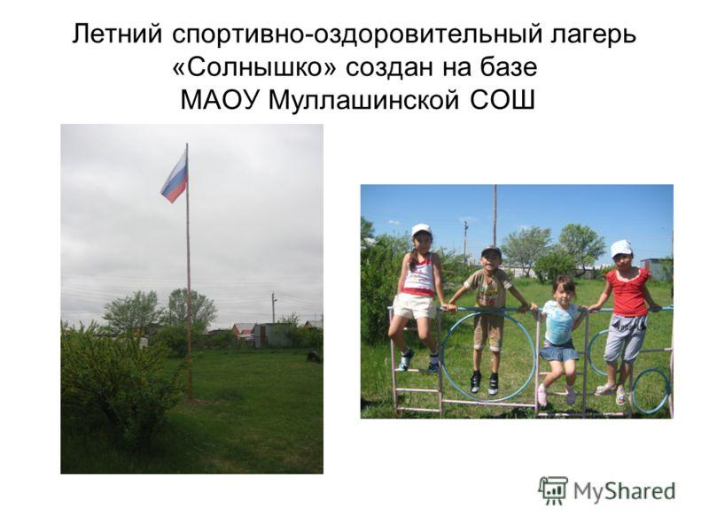 Летний спортивно-оздоровительный лагерь «Солнышко» создан на базе МАОУ Муллашинской СОШ