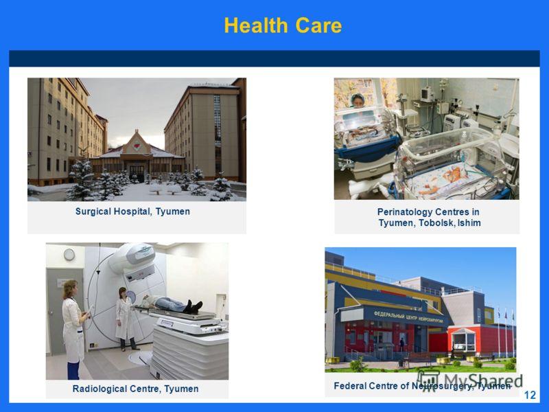 Federal Centre of Neurosurgery, Tyumen Surgical Hospital, Tyumen Radiological Centre, Tyumen Perinatology Centres in Tyumen, Tobolsk, Ishim Health Care 12