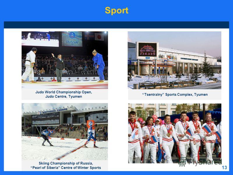 13 Sport Judo World Championship Open, Judo Centre, Tyumen Tsentralny Sports Complex, Tyumen Skiing Championship of Russia, Pearl of Siberia Centre of Winter Sports