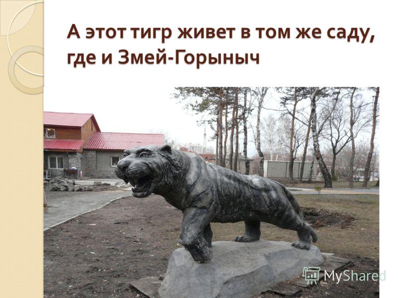 А этот тигр живет в том же саду, где и Змей - Горыныч