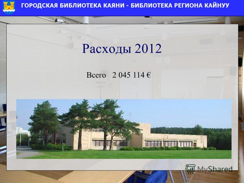 Расходы 2012 Всего 2 045 114