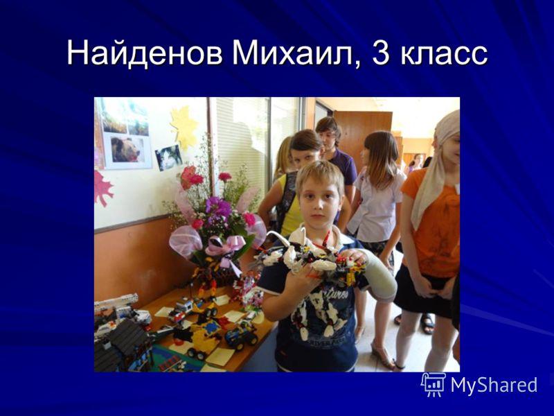 Найденов Михаил, 3 класс