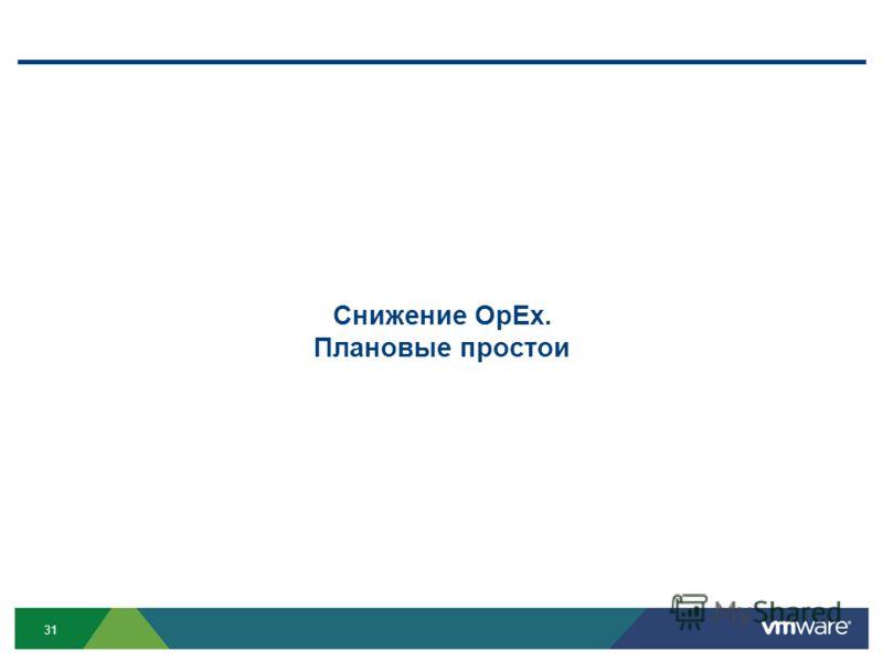 31 Снижение OpEx. Плановые простои