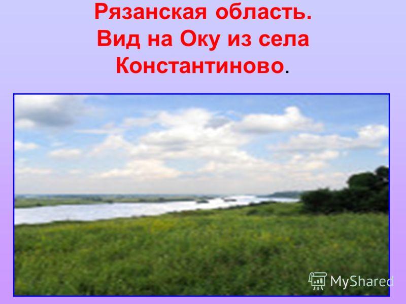 Рязанская область. Вид на Оку из села Константиново.