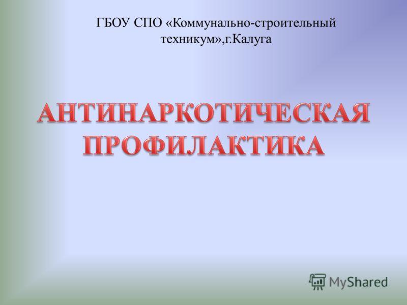 ГБОУ СПО «Коммунально-строительный техникум»,г.Калуга