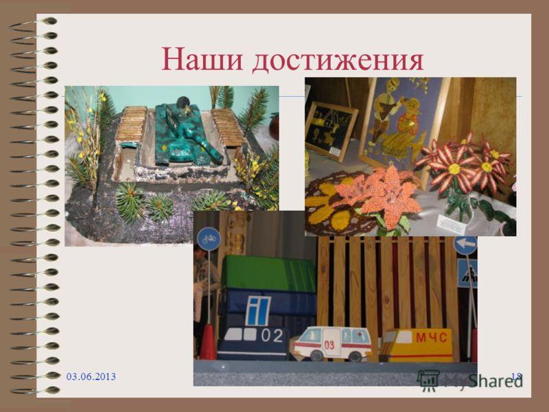 Наши достижения 03.06.201318