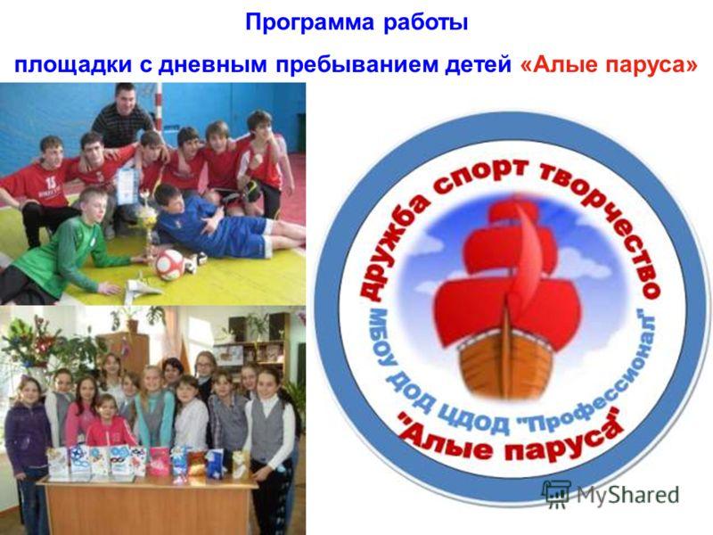 Программа работы площадки с дневным пребыванием детей «Алые паруса»