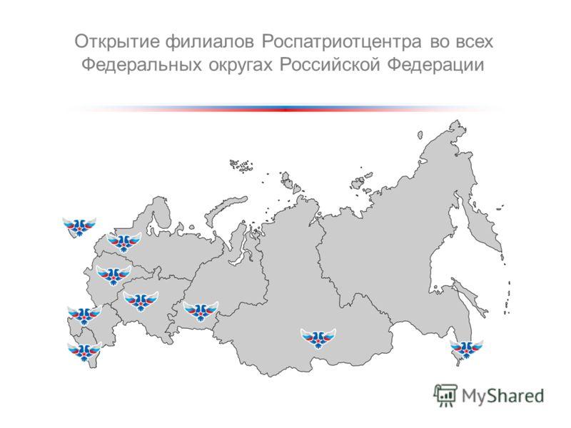 Открытие филиалов Роспатриотцентра во всех Федеральных округах Российской Федерации