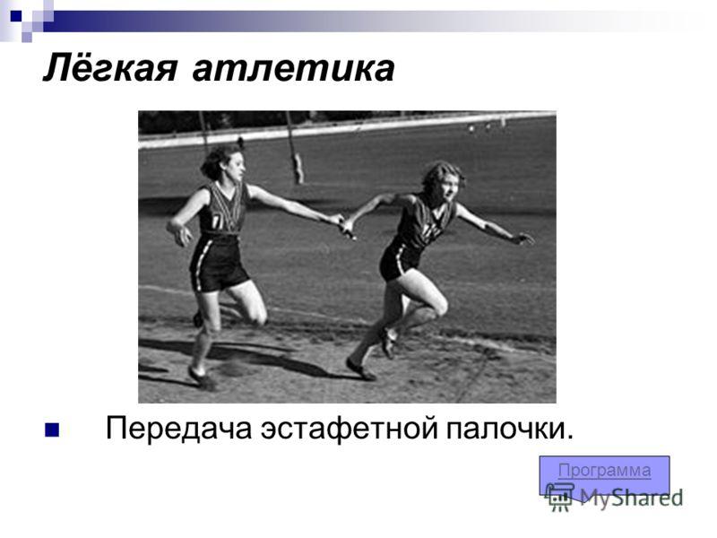 Лёгкая атлетика Передача эстафетной палочки. Программа