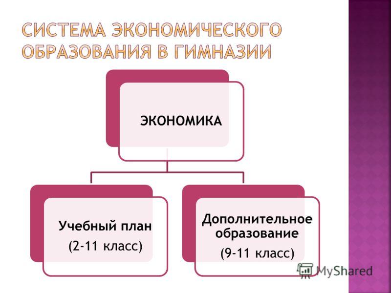 ЭКОНОМИКА Учебный план (2-11 класс) Дополнительное образование (9-11 класс)