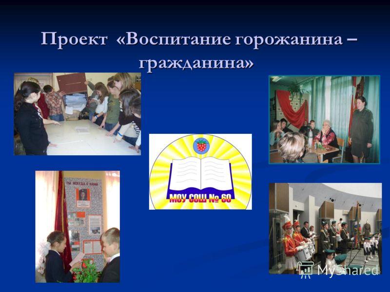 Проект «Воспитание горожанина – гражданина» Проект «Воспитание горожанина – гражданина»