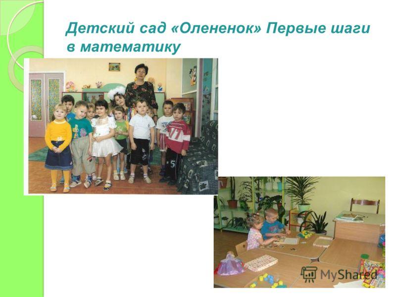 Детский сад «Олененок» Первые шаги в математику