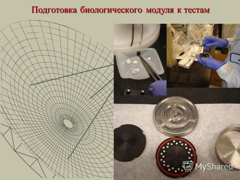 Подготовка биологического модуля к тестам