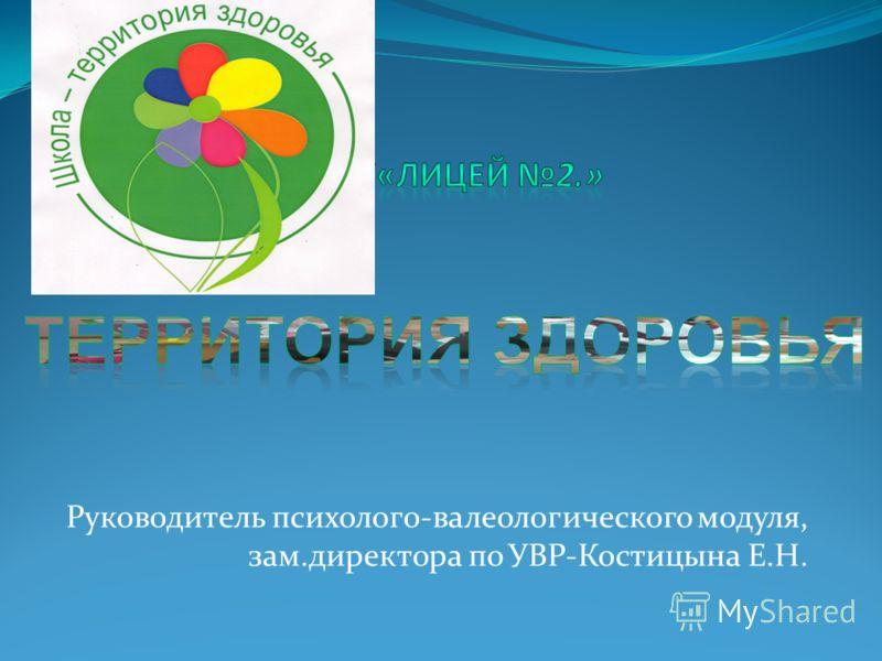 Руководитель психолого-валеологического модуля, зам.директора по УВР-Костицына Е.Н.