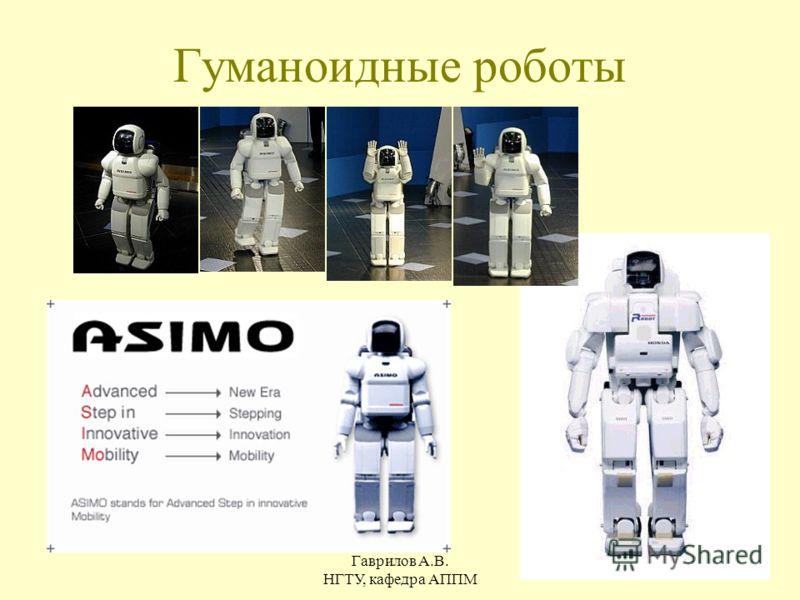 Гаврилов А.В. НГТУ, кафедра АППМ 12 Гуманоидные роботы