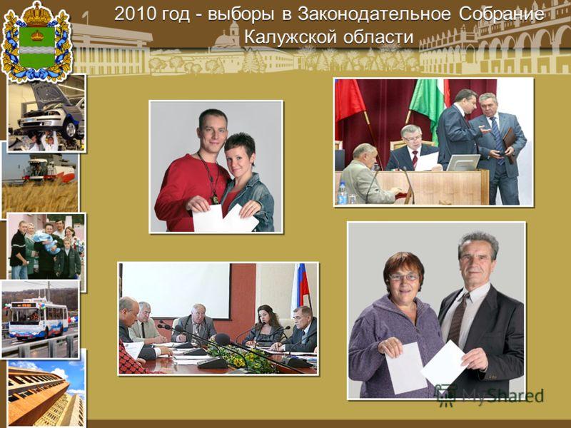 2010 год - выборы в Законодательное Собрание Калужской области