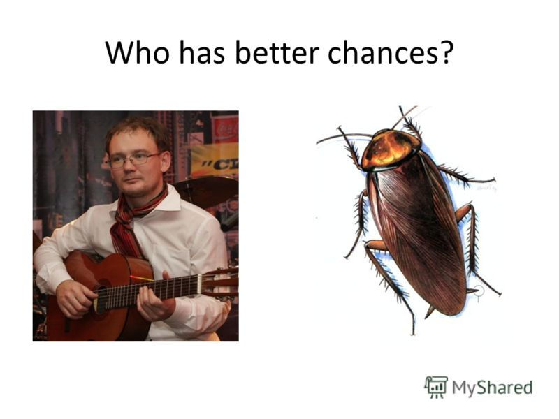 Who has better chances?