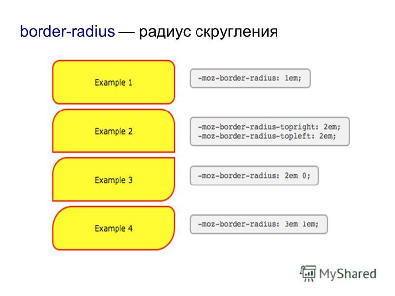 border-radius радиус скругления