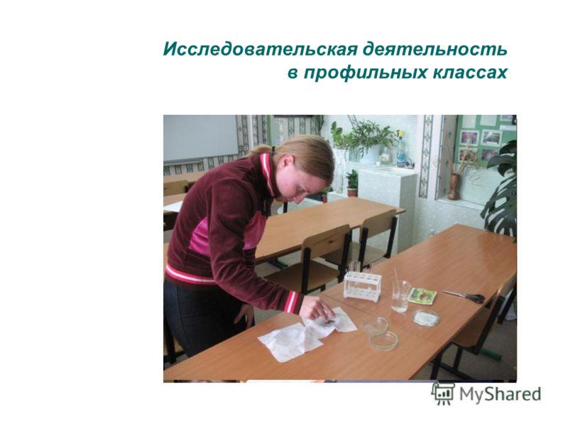 Исследовательская деятельность в профильных классах