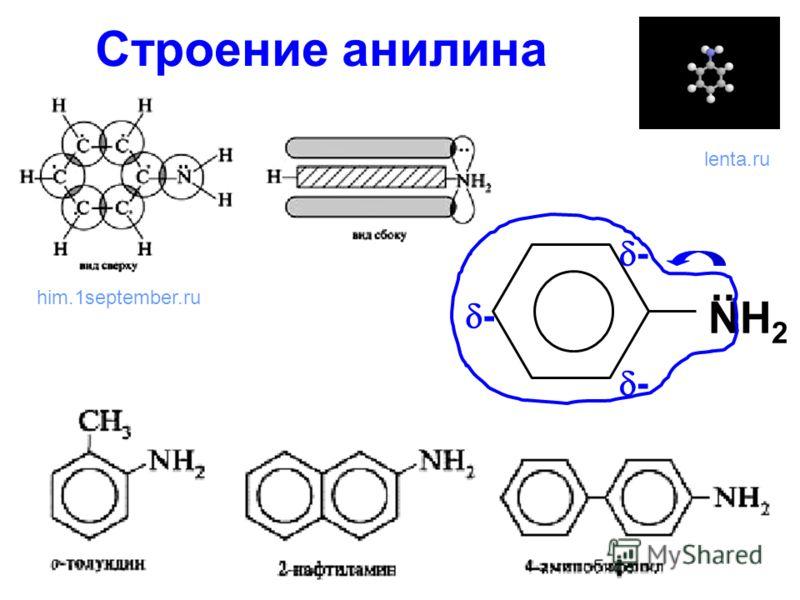 Строение анилина NН2NН2.. - - - him.1september.ru lenta.ru