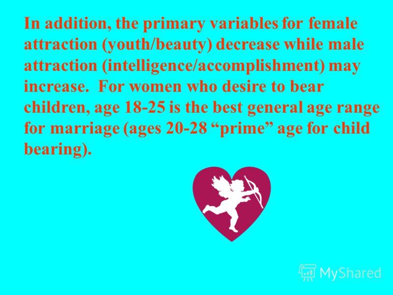 С возрастом мужчины приобретают «преимущество» над женщинами, потому что женятся «на понижение» в отношении возраста, образования и статуса. Таким образом женщины старшего возраста, с высоким уровнем образования и социальным статусом остаются в невыг