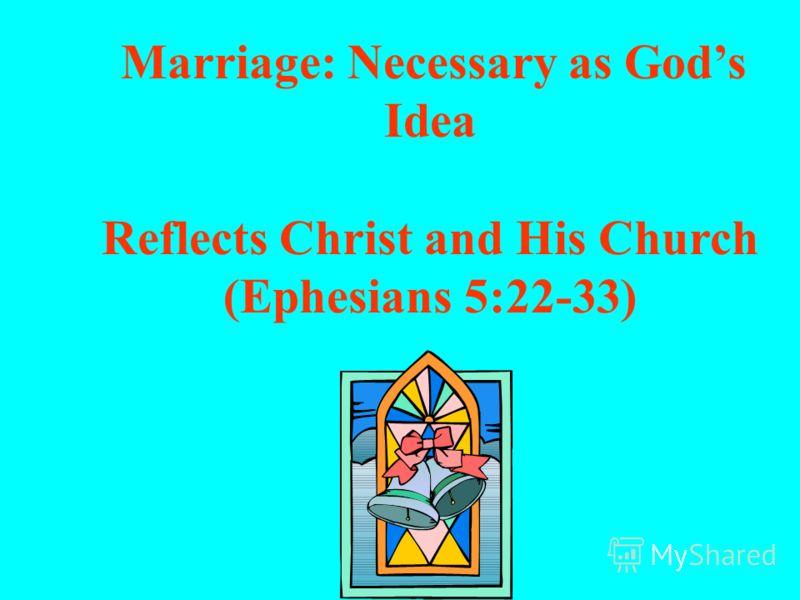 Супружество: необходимый аспект Божьего замысла Замысел Создателя (Бытие 1-2)