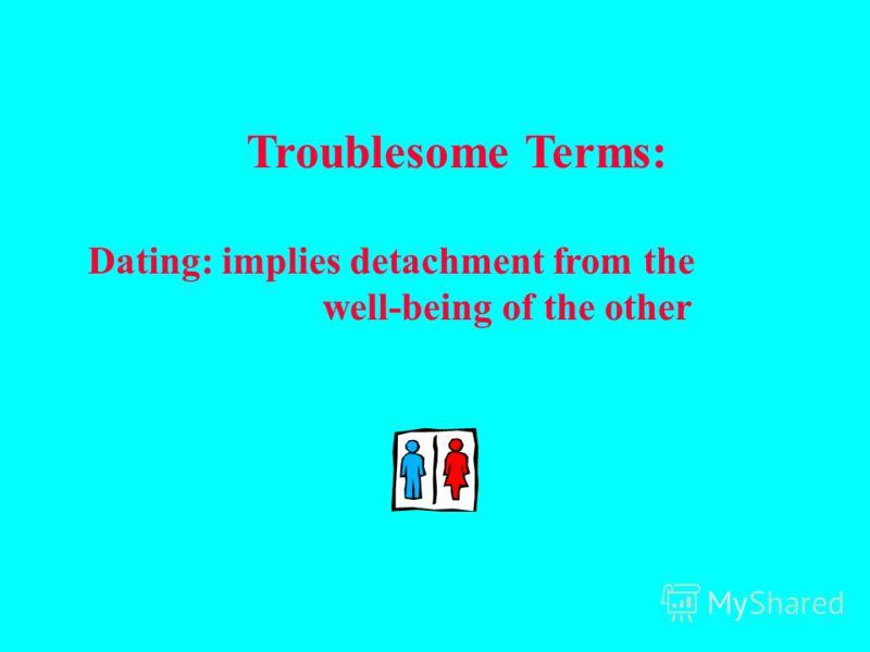 Проблемные термины: Ухаживание: подразумевает обязательства по отношению друг к другу