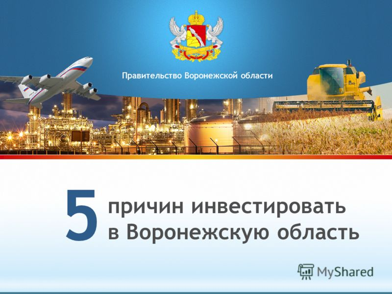 причин инвестировать в Воронежскую область 5 Правительство Воронежской области