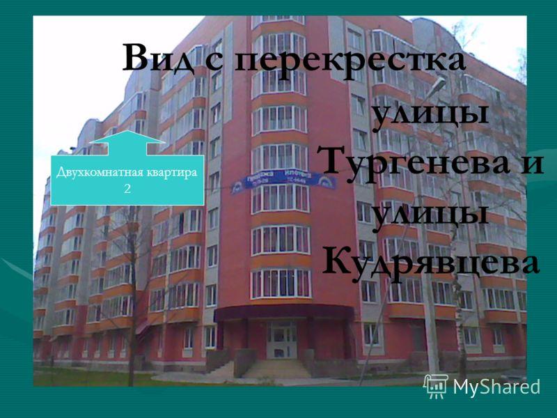 Вид с перекрестка улицы Тургенева и улицы Кудрявцева Двухкомнатная квартира 2