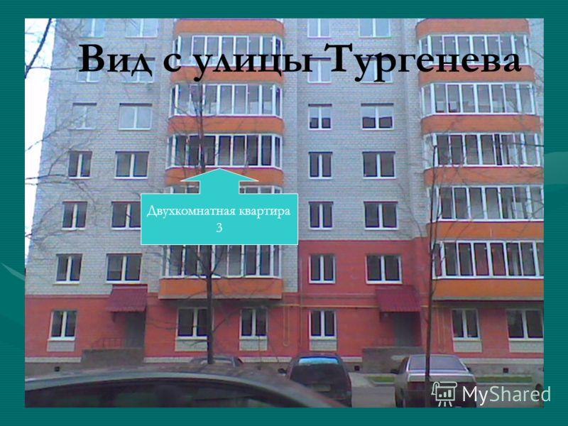 Двухкомнатная квартира 3 Вид с улицы Тургенева