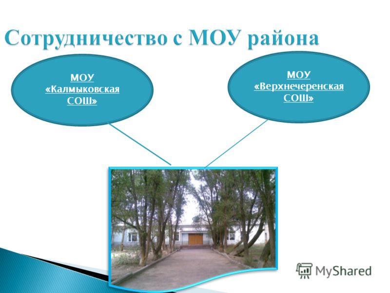 Сотрудничество с МОУ района МОУ «Калмыковская СОШ» МОУ «Верхнечеренская СОШ»